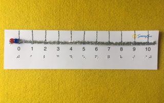 tactile number line slider with braille