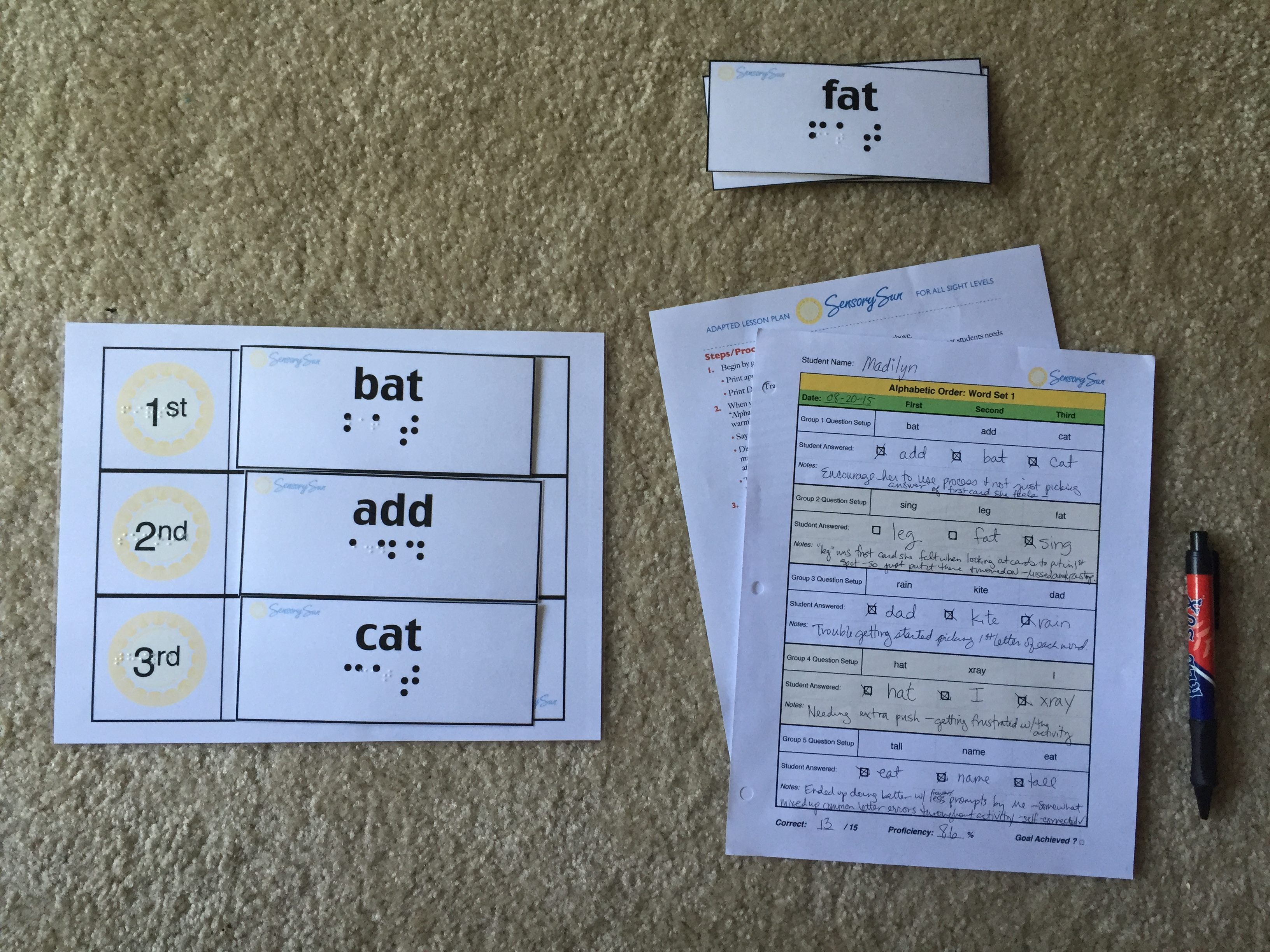 Teach Abc Order To Kids Who Are Blind