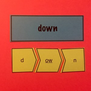 down flashcards on pink background
