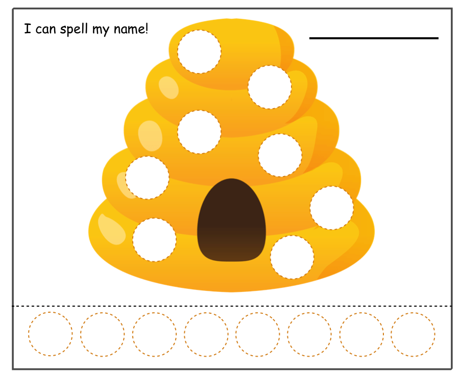 beehive with circles game printable