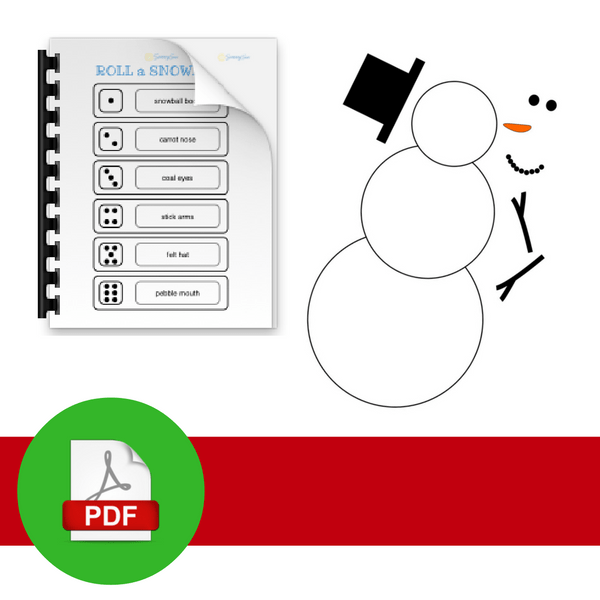 PDF symbol with snowman outline