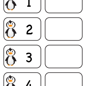Penguin Counting Task Cards 1-4 print version