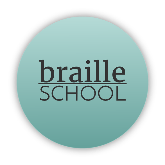braille school logo for parents of blind kids by sensory sun