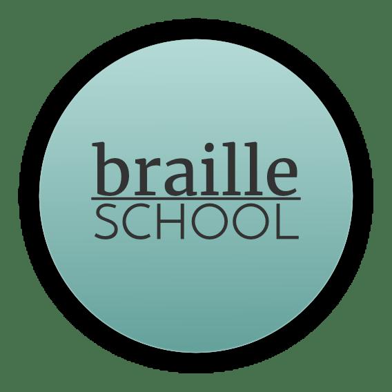 braille school logo for parents of blind kids