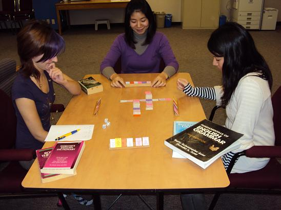 Picture of SentenceMaster Word Cards being played in a writing game