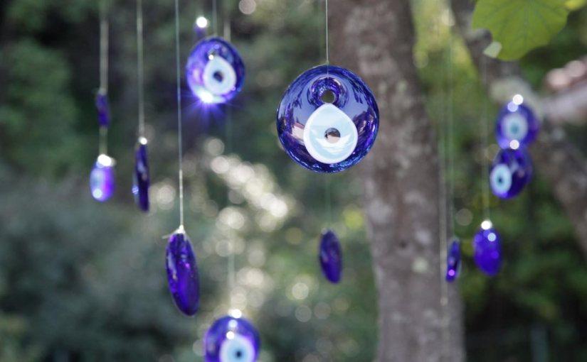 Oeil turc porte-bonheur, créez un mobile d'extérieur