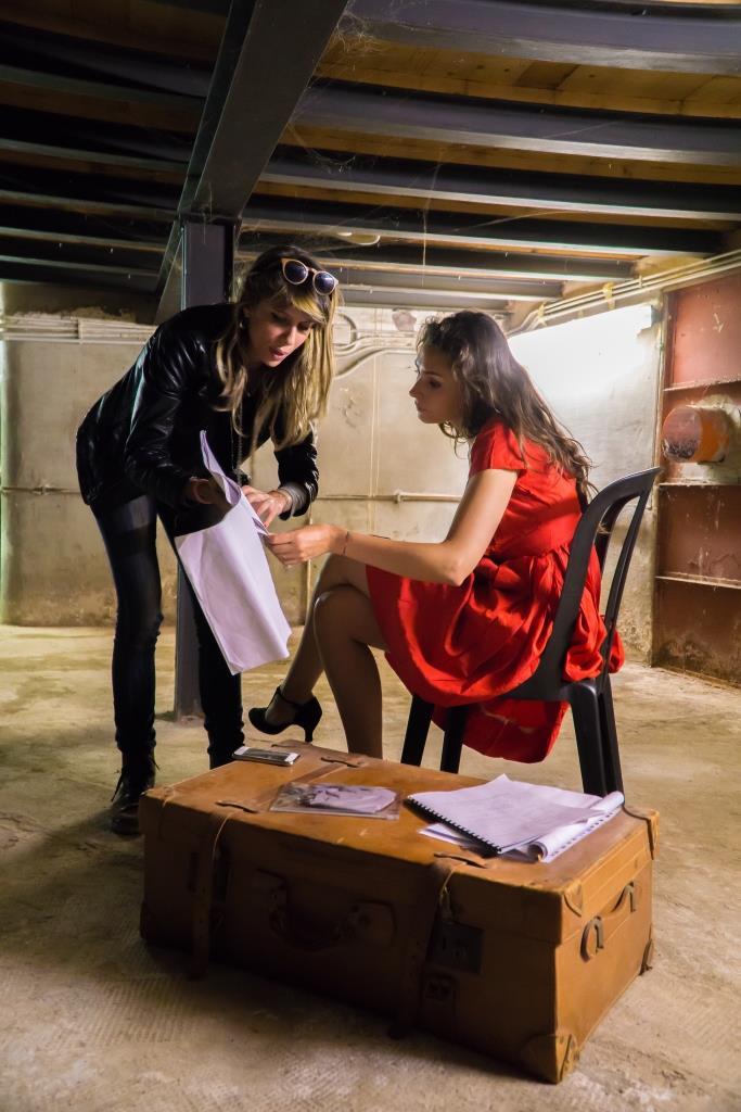 ultime indicazioni di Tiziana a Prescillia sul set