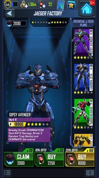 Nella Jaeger Factory si possono acquistare potenziamenti per i propri Jaeger, o magari si possono cercare di ottenere i Jaeger che ancora non si possiedono in squadra...