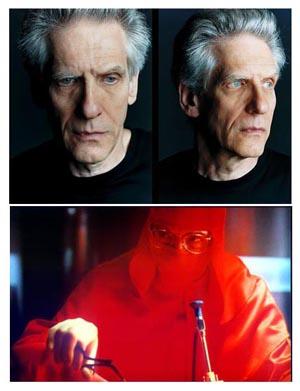 David Cronenberg e un'immagine da Dead Ringers