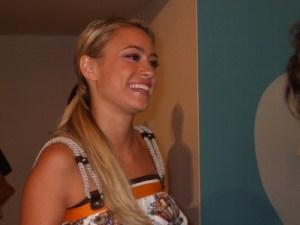Martina Stella in conferenza stampa di
