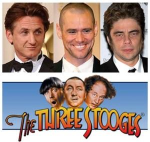 Penn, Carrey e Del Toro saranno i Three Stoges