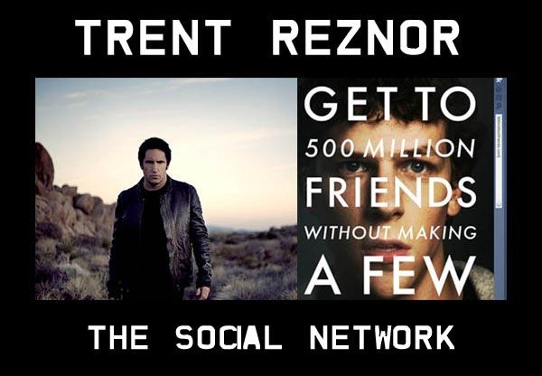 TRENT REZNOR dei NINE INCH NAILS per la colonna sonora di The Social Network di David Fincher