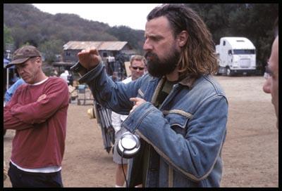 Rob Zombie sul set di The Devil's Rejects (2005)
