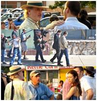 Javier Bardem e Olga Kurylenko sul set del nuovo film di Terrence Malick