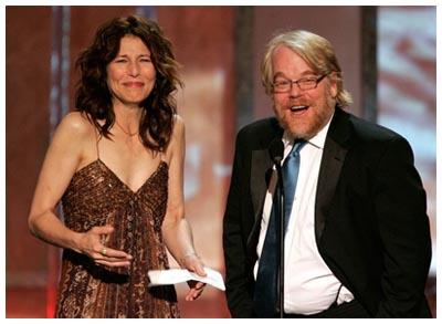 Catherine Keener e Philip Seymour Hoffman