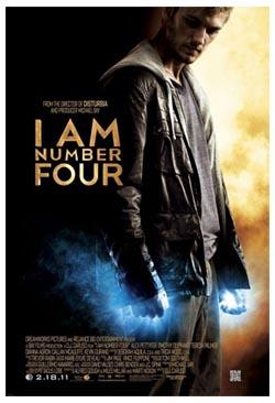 Io sono il numero quattro, di D.J. Caruso. Il poster