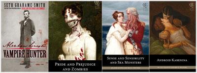 Le copertine dei libri mash-up tra classici letterari, storia e fantasy