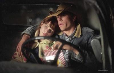 Michelle Williams e Heath Ledger in Brokeback Mountain