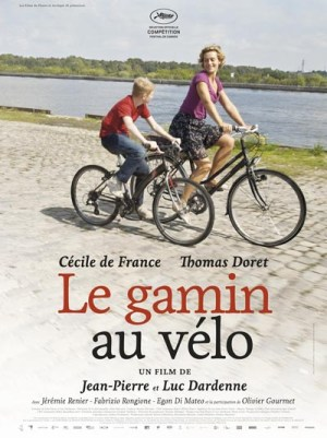 Thomas Doret e Cécile de France - poster Le Gamin au vélo - Jean-Pierre e Luc Dardenne