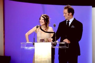 Mélanie Laurent e Vincent Lindon durante la cerimonia di consegna dei premi César