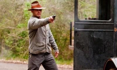 TOM HARDY sul set di The Wettest County in the World di John Hillcoat