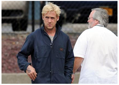 Ryan Gosling sul set di THE PLACE BEYOND THE PINES