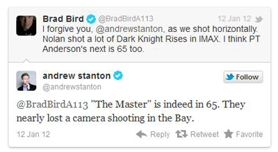 I registi Pixar parlano di THE MASTER su Twitter