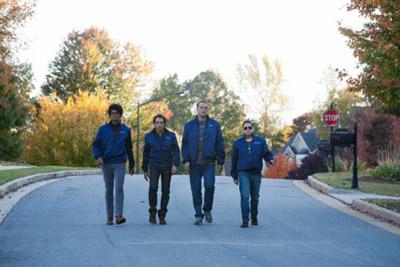 Ben Stiller, Vince Vaughn, Jonah Hill e Richard Aoyade in Neighborhood Watch