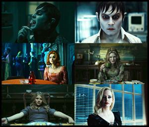 DARK SHADOWS di Tim Burton, il cast: Johnny Depp, Michelle Pfeiffer, Helena Bonham Carter, Eva Green, Chloë Moretz