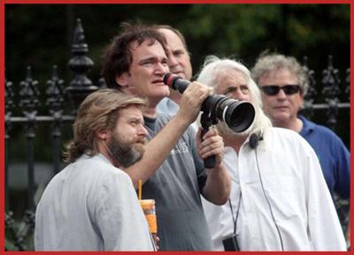 Quentin Tarantino sul set di Django Unchained