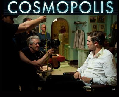 David Cronenberg e Robert Pattinson sul set di COSMOPOLIS