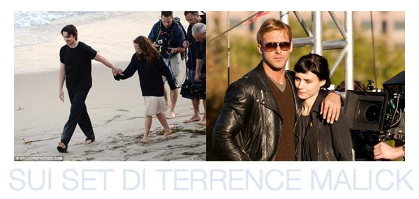 Christian Bale e Natalie Portman in Knight of Cups, Ryan Gosling e Rooney Mara in Lawless