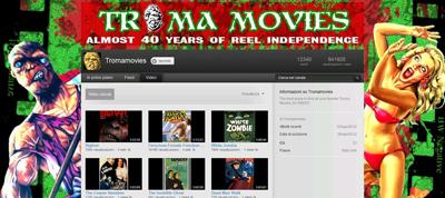 150 film Troma, in streaming gratuito su YouTube