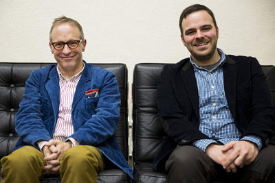 Lo scrittore David Sedaris e il regista Kyle Alvarez - SUNDANCE 2013