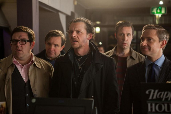 The World's End di Edgar Wright: Nick Frost, Eddie Marsan, Simon Pegg, Paddy Considine, Martin Freeman
