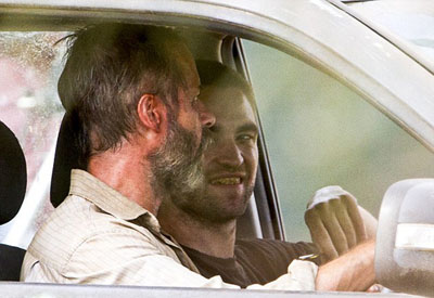 Guy Pearce e Robert Pattinson sul set di THE ROVER