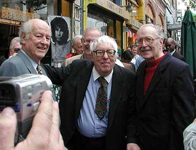 Ray Harryhausen con Ray Bradbury e Forrest J Ackerman