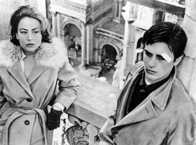 Annie Girardot e Alain Delon in Rocco e i suoi fratelli