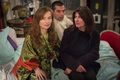 Isabelle Huppert, Kool Shen e Catherine Breillat - set - Abus de faiblesse Photo ©Fabrizio Maltese