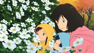 Hana con i piccoli Ame e Yuki