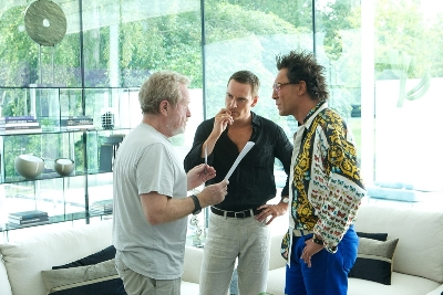 Ridley Scott, Javier Bardem e Michael Fassbender in The Counselor