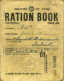 WW2 Food Ration Book Sentimental Journey Online Store