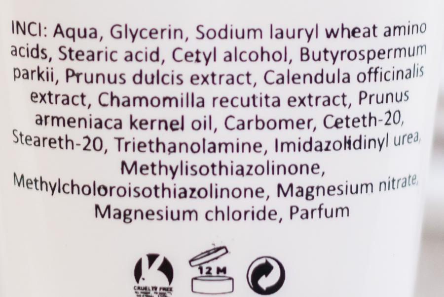 Bijin Facial cleanser cream - ingrediënten