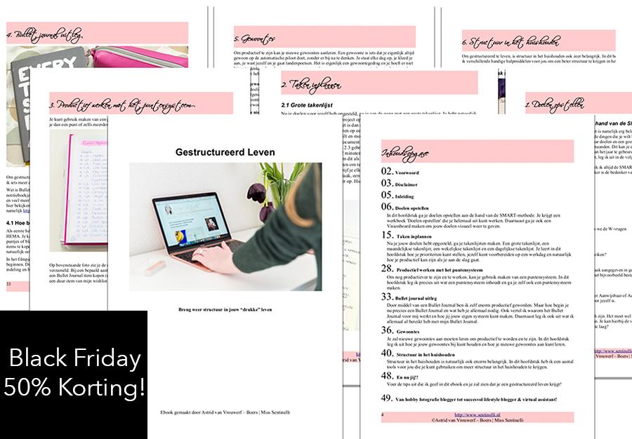 """Black Friday - 50% korting op mijn ebook """"Gestructureerd Leven""""! Krijg weer structuur in jouw leven!"""