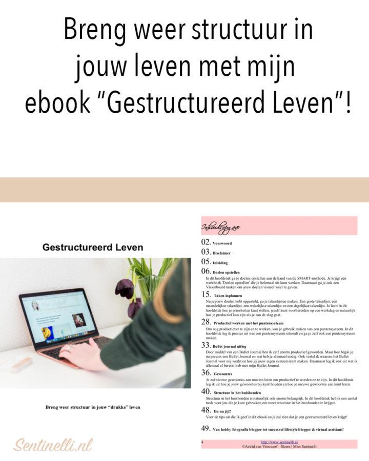 """Breng weer structuur in jouw leven met mijn ebook """"Gestructureerd Leven""""!"""