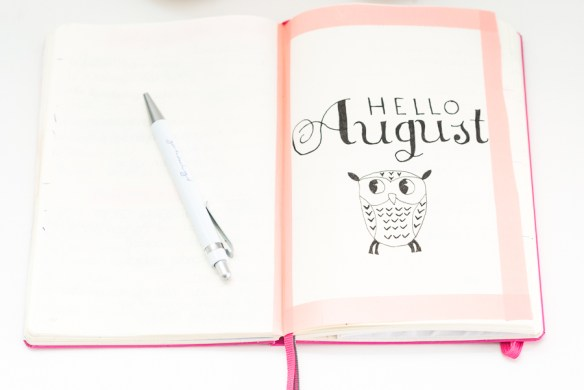 Mijn Bullet Journal augustus setup