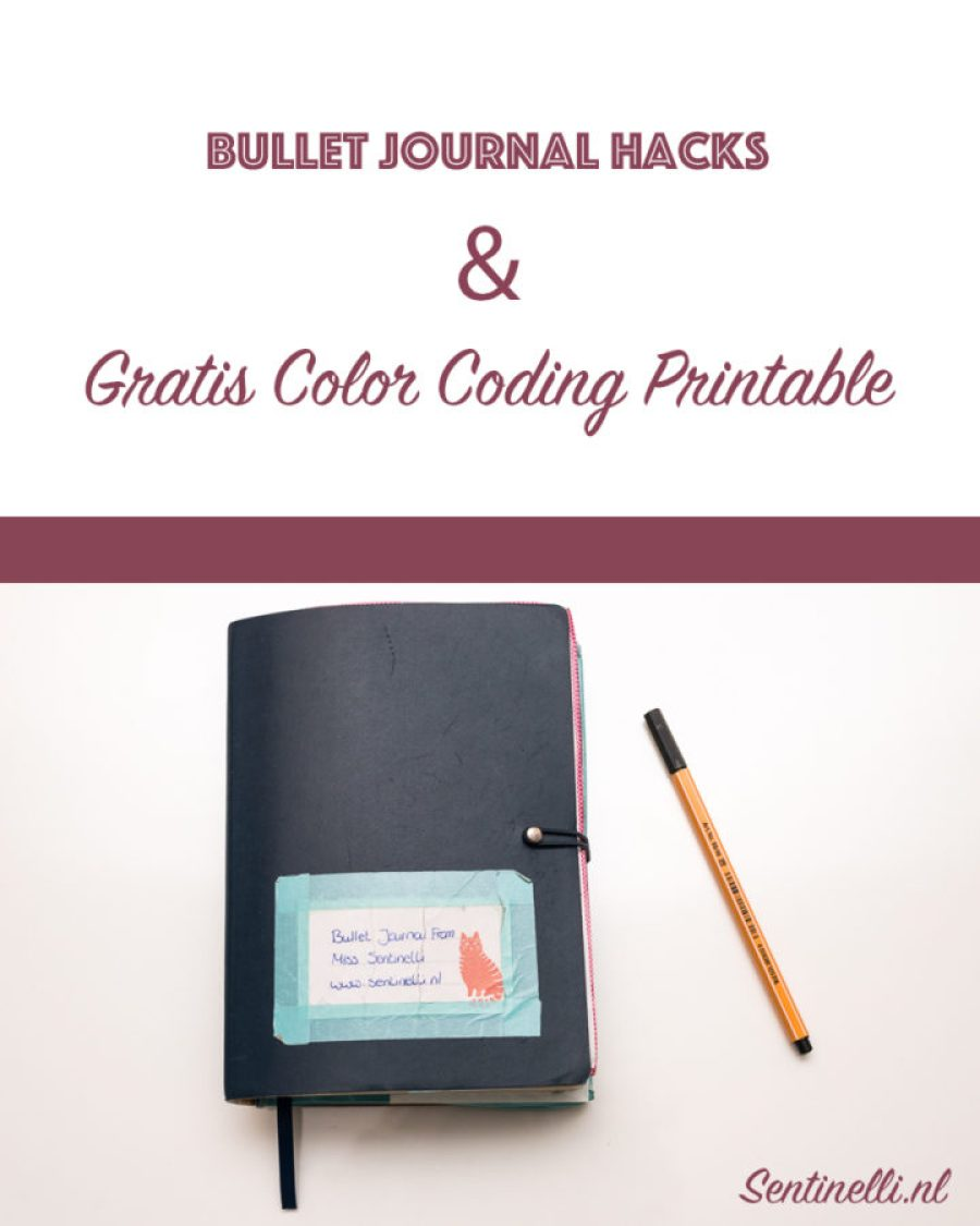 Bullet Journal Hacks + Gratis Color Coding Printable