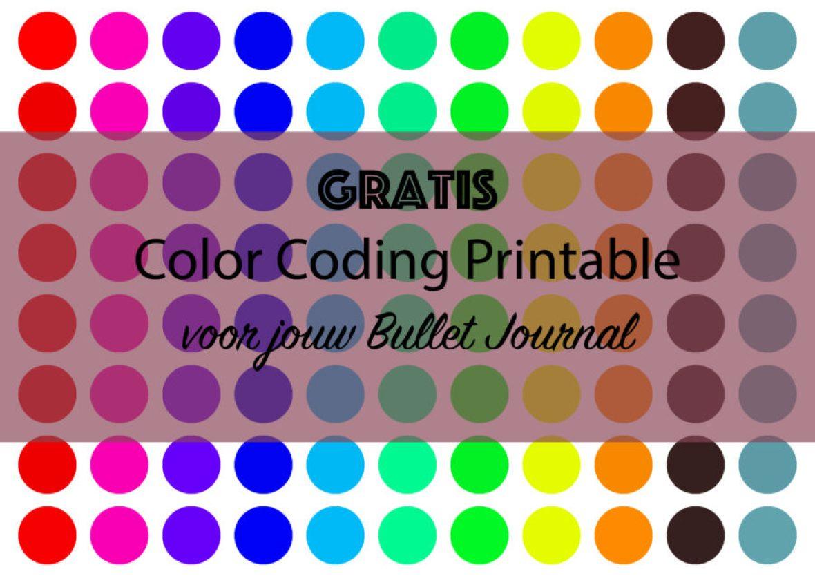 Bullet Journal Hacks - Color Coding Printable