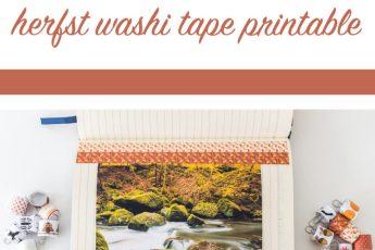 DIY Washi tape maken + gratis herfst washi tape printable
