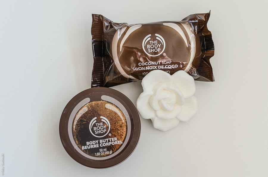 The body shop body butter & coconut soap